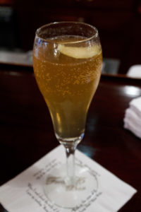 Delicious French 75 cocktail