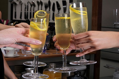 Delicious French 75 cocktails